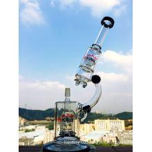Microscope Shape Rocket Perc Cream Factory Wholesale Price Glass Smoking Water Pipe