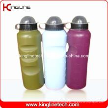 Garrafa de água de plástico, garrafa de água de plástico, garrafa de bebida de plástico de 700 ml (KL-6731)