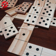 EASTONY Children Fun Game Educational Wood Domino for Kids Wooden Dominoes Set
