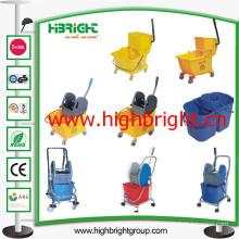Hotel Room Service Mechanical Cleaning Wringer Cart