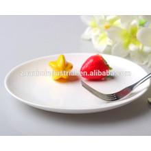 Restaurante de comida rápida super blanco y durable porcelana