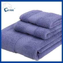 100% твердых цветов полотенца наборы (QAD9980)