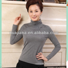 women's finest cashmere knitting turtleneck sweater