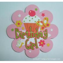 Soft PVC Coaster with Flower Shape (Coaster-04)