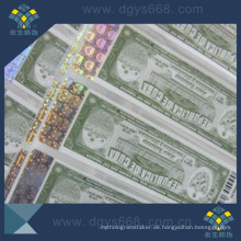 Custom Embossing Hot Stamping Anti-Counterfeiting Tickets Drucken