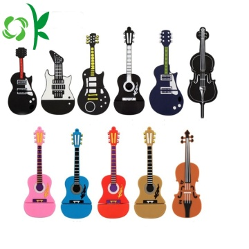 Gitar 3D Kustom Silicone USB Flash Drive Cover