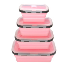 Stackable Food Container Silicone Foldable Lunchbox