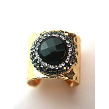 Fashion Copper Natural Precious Gemstone Stone Finger Ring Rings Jewelry
