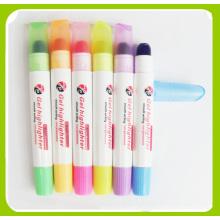 Caneta de marca-texto sólida, caneta fluorescente (661)
