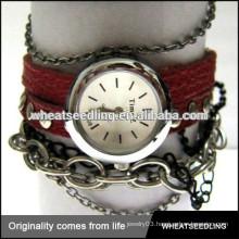 couple girl boy vintage retro wrap cheap leather bracelets watch bracelet