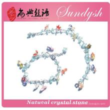 real fancy handmade vintage fashion big druzy gem green genuine lucky crystal multi colored lava agate natural stone bracelet
