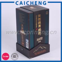 Cardboard Single Bottle Paper Wine Packaging Box