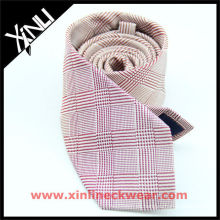 Dog Tooth Italian Design Pink White Good Quality Tie