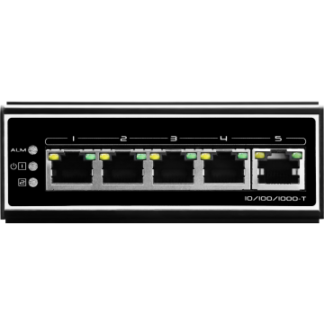 5 poorten industriële gigabit switch