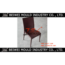 Customized Armless Plastic Rattan Chair Mould