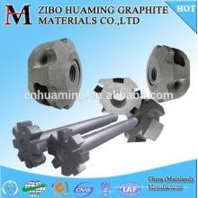 rotor de grafite de resistência à oxidação e eixo para desgaseificação de alumínio