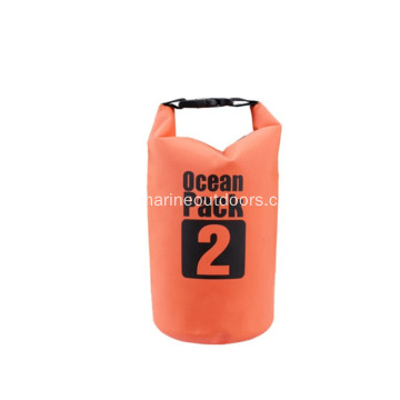 Multicolor Customized Logo Waterproof Roll Top PVC 2L Dry Bag