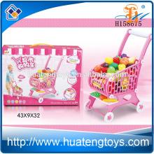 Детский супермаркет покупками тележки игрушки, корзина игрушка с овощами H158675