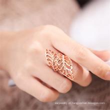 Destino joias cristal de Swarovski anel folha oca