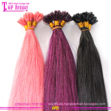100 % Echthaar bunte Pre geflochtene Haare Schuss Klasse 7A Top Qualität Pre geflochten Haarverlängerungen zum Verkauf