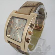 Nouvelle montre en cuir d'alliage d'arrivée (HAL-1229)
