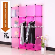 VIIVNATURE En Plastique Penderie Chambre Meubles Boîte Cube Cabinet De Rangement Vêtements Placard Organisateur Organisateur avec 12 Enclos Portable E