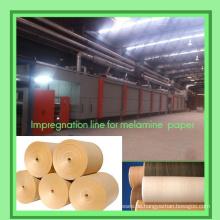 Dekorpapierleimbeschichtungsmaschine / Imprägnierlinie für Melaminpapier