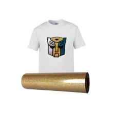 Custom Sized Roll HTV Glitter vinyl Heat Transfer Embroidery for Iron on Fabric T-Shirt