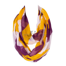 Contrast Color Big Stripe Women Long Hijab Scarf Based on 80s Voile