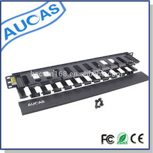 Aucas brand high quality cable fitting/retractable 1u cable management for 19inch server rack hot price