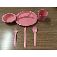 (BC-CS1069) Conjunto de utensílios de mesa de bambu para crianças