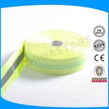 Fluo yellow backing Ruban réfléchissant en argent 2cm