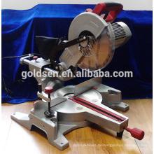 255mm 1800w Low Noise Induction Motor Elektrische Slide Gehrungssäge Power Aluminium Profil Schneiden Säge