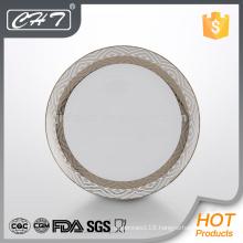 A011 hot sale luxury rhombus flower fine bone ceramic dinner plate