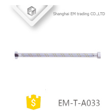 EM-T-A033 Bathroom fitting Stainless Steel Braided Hose Sanitary accessory