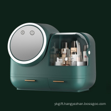 Makeup Box With 360° Rotating Lighted And Fan