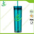 Copo de acrílico de 16 Oz BPA com palha, como copo