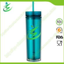 16 Oz BPA-Free Акриловая чашка с соломой, как кубок