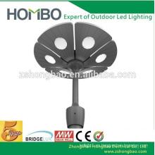 Directo de fábrica de fábrica de aluminio en forma de flor polo superior IP65 UL CE RoHS DLC SMD 60W llevó jardín luces