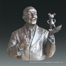 Estatua Grande Estatua Walt Bronce Escultura Tpls-077