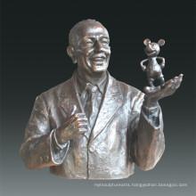 Large Figure Statue Walt Bronze Sculpture Tpls-077