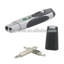 3 in 1 Pocket Multi Tool- Level, Flashlight & Interchangeable Screwdriver