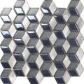 Braune Aluminium-Mix Split Join Mosaik Glasfliese