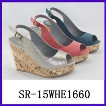 Resbalón vendedor caliente de la manera en las mujeres antideslizantes de las sandalias de las sandalias del resbalón de la sandalia del verano