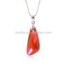 Charmant pendentif rubis en cristal à l'australie