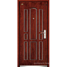 Carving security wood door with painting