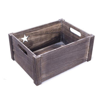 Star-Shaped Cut Out Wooden Crate  Star-Shaped Cut Out Wooden Crate