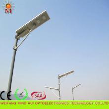 Eficiência elevada 5 anos de luz de rua solar integrada 80W da garantia do diodo emissor de luz