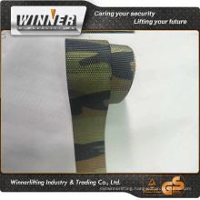 Green red black yellow polyester webbing strap