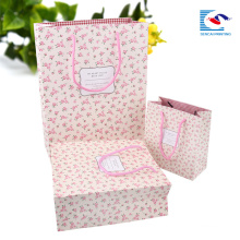 handmade decorative paper bags for girls with flowers